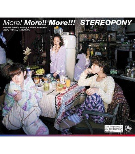 Stereopony - More! More!! More!!! (Jacket B)(ALBUM+DVD)(First Press)(édition limitée japonaise)