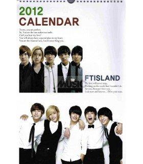 FT ISLAND 2012 Calendar 45x28.5cm (mural)