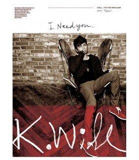 K.Will Mini Album Vol. 3 - I Need You (édition coréenne)