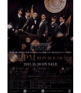 Affiche officielle 2PM First Album (édition japonaise) - Republic of 2PM (Type A)