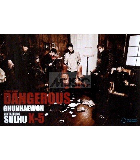 Affiche Officielle X-5 Mini Album Vol. 1 - Dangerous