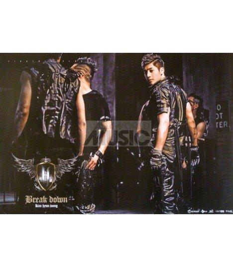 Affiche Officielle Kim Hyun Joong Mini Album Vol. 1 - Break Down