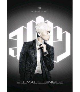 Jang Woo Young (장우영) 1st Mini Album - 23, MALE, SINGLE (Silver Edition) (édition coréenne)