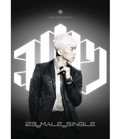Jang Wooyoung (장우영) 1st Mini Album - 23, MALE, SINGLE (Silver Edition) (édition coréenne)