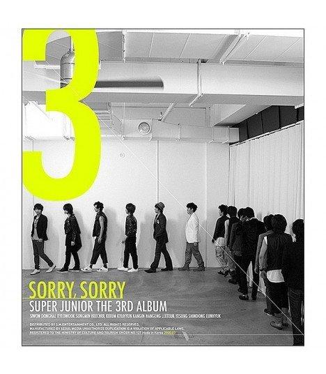 Super Junior Vol. 3 - Sorry, Sorry (Version A) (édition coréenne)