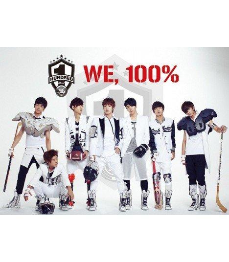 100% (백퍼센트) Single Album Vol. 1 - We, 100% (édition coréenne) (Poster offert*)