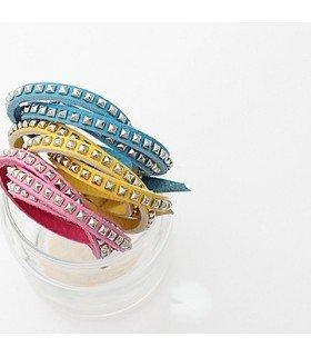 Infinite - Bracelet Cuir Slim Infinite Style (Yellow)