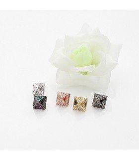 Jang Keun Suk - Boucles d'oreilles Empty Pyramid (Silver)