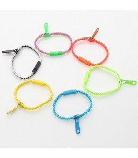 SHINee - Bracelet Simple Zipper (vert et rose foncé)