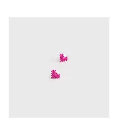 Boucles d'oreilles - Lovely Mosaic Heart (Pink/Pink Cubic)