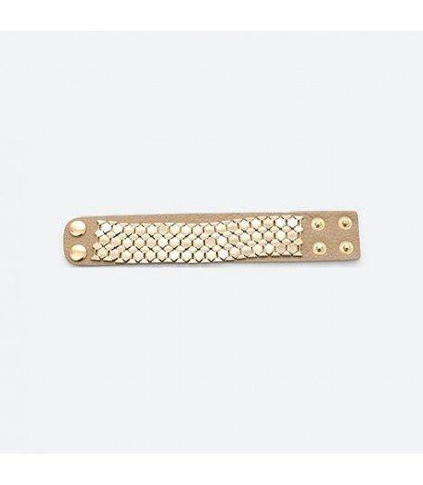 B.A.P - Bracelet Hive Leather (Beige)