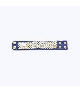 B.A.P - Bracelet Hive Leather (Deep Blue)