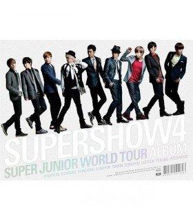 Super Junior (슈퍼주니어) THE 4TH WORLD TOUR SUPER SHOW 4 (3CD + Bracelet SS4 offert* ) (édition coréenne)