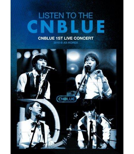 CNBLUE - Listen To The CNBLUE: 1st Live Concert 2010 @ AX-Korea (2DVD+Photobook)(First Press)(édition limitée coréenne)