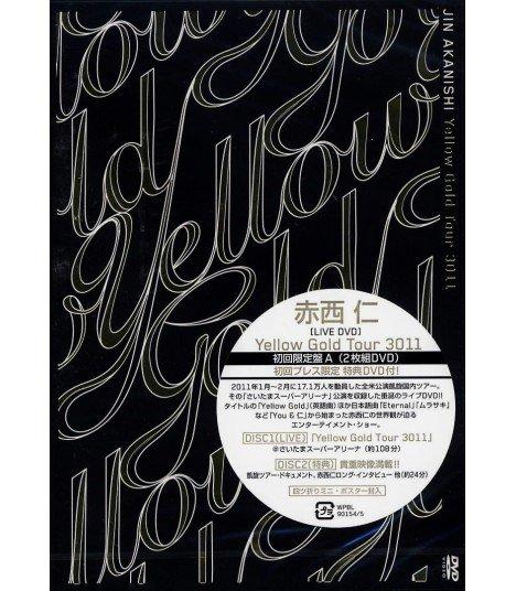 Jin Akanishi - Yellow Gold Tour 3011 (2DVD) (First Press A) (édition limitée japonaise)