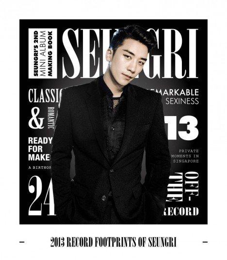 SEUNGRI (승리) Seungri's 2nd Mini Album Making Book (2013 Record Footprints of Seungri) (édition coréenne)