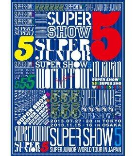 Super Junior - SUPER JUNIOR WORLD TOUR SUPER SHOW 5 in JAPAN (3DVD) (édition limitée japonaise)