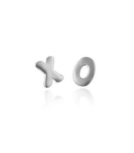 Teen Top - Boucles d'oreilles Point Initial (Silver)