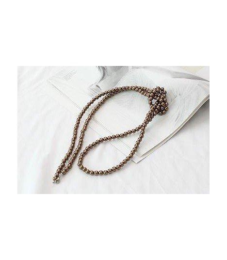 BEAST (Hyun Seung) Collier Pitter Patter Beads (Gold Brown)