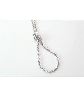 BEAST (Hyun Seung) Collier Pitter Patter Beads (Silver)