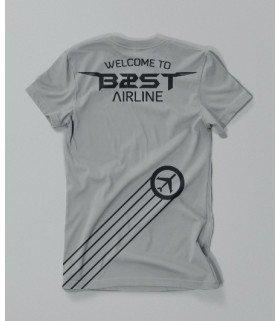 T-shirt BEAST (비스트) BEAST AIRLINE GREY (S)