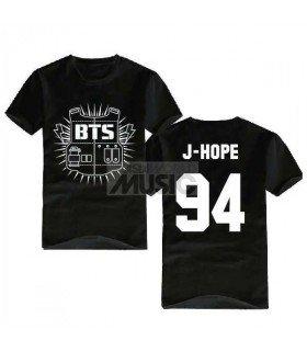 BTS - T-Shirt Bulletproof J-HOPE 94 (Black / Coupe Unisexe)