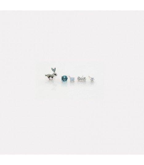 Boucles d'oreilles Wild Rabbit (Set SKY)
