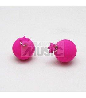 Boucles d'oreilles Popping Star (PINK)