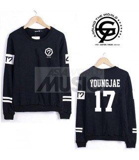 Sweat - GOT7 Style - YOUNGJAE 17 (Black)