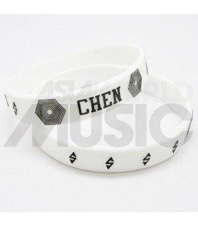 EXO - Bracelet Fashion 3D - OVERDOSE - CHEN (WHITE)