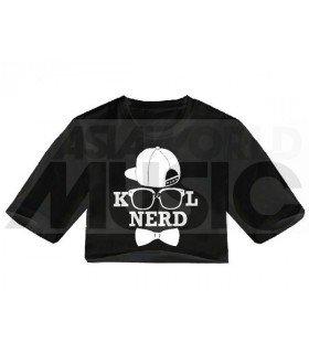 Crop top - KOOL NERD (Black)