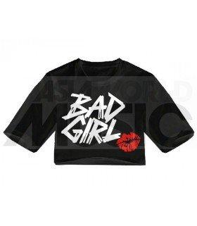 Crop top - BAD GIRL (Black) (FAREAST)