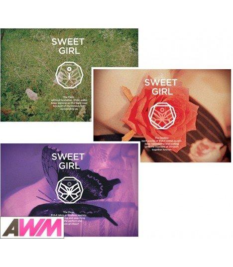PACK B1A4 MINI ALBUM VOL. 6 - SWEET GIRL (Version BOY + FLOWER + BUTTERFLY) (Offre spéciale)