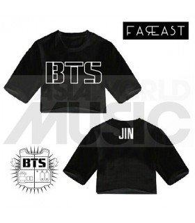 Crop top - BTS JIN (Black) (FAREAST)