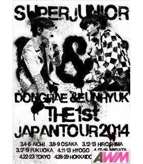 DONGHAE & EUNHYUK (Super Junior) SUPER JUNIOR D&E THE 1st JAPAN TOUR 2014 (2DVD) (édition limitée taiwanaise)