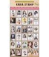 KARA - Planche de autocollants format timbre collection 2015