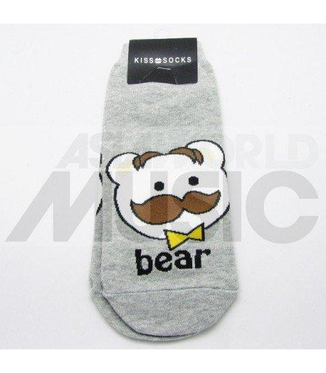 Socquettes Cute - Bear Moustache