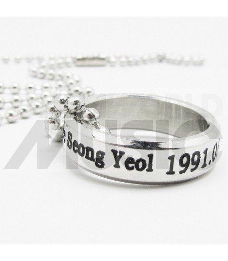 INFINITE - Collier Bague Infinite Birthday - Sungyeol (Double collier)