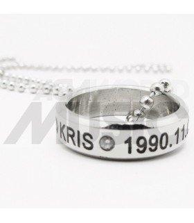 Kris Wu - Collier Bague Birthday - KRIS (Double collier)