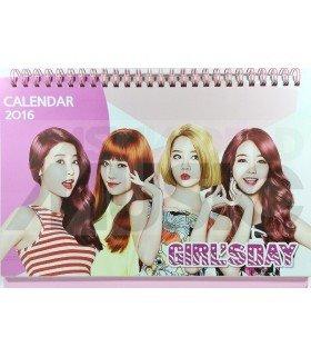 Girl's Day - Calendrier de Bureau 2016 / 2017 (+Stickers)