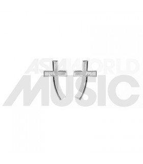 SHINee - Boucles d'oreilles Curve Cross (Polished)