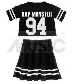 BTS - Ensemble Crop Top + Jupe - RAP MONSTER 94 (Taille unique)