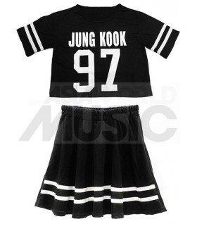 BTS - Ensemble Crop Top + Jupe - JUNG KOOK 97 (Taille unique)