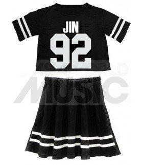 BTS - Ensemble Crop Top + Jupe - JIN 92 (Taille unique)