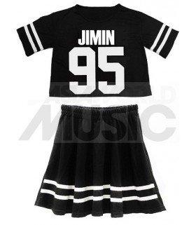 BTS - Ensemble Crop Top + Jupe - JIMIN 95 (Taille unique)