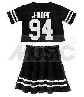 BTS - Ensemble Crop Top + Jupe - J-HOPE 94 (Taille unique)