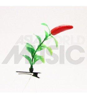Plante à cheveux - Piment rouge