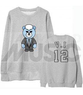 BIGBANG - Sweat KRUNK X BIGBANG - V.I 12 (BAE BAE / SEUNGRI) (Gray / Coupe unisexe)