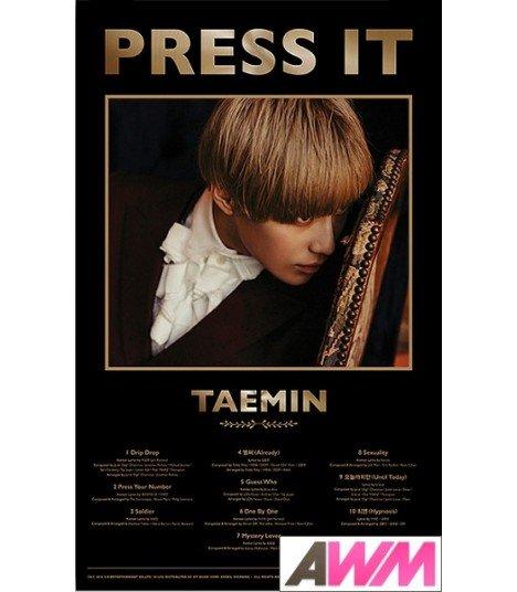 Affiche officielle Taemin - Press It (Poster A)