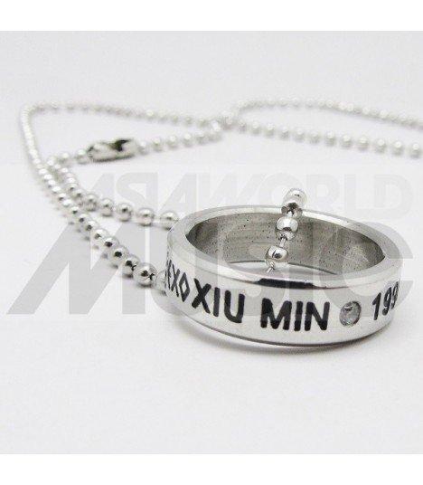 EXO - Collier Bague EXO Birthday - XIUMIN (Double collier)